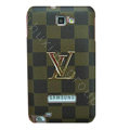Louis Vuitton LV Luxury leather Cases Holster for Samsung Galaxy Note i9220 N7000 - Brown