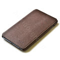 ROCK Side Flip leather Cases Holster Skin for Samsung Galaxy Note i9220 N7000 - Coffee