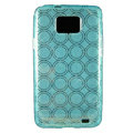 TPU Soft Skin Cases Covers for Samsung i9100 i9108 Galasy S II S2 - Blue