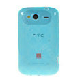 TPU Soft Skin Silicone Cases Covers for HTC Wildfire S A510e G13 - Blue