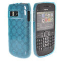 TPU Soft Skin Silicone Cases Covers for Nokia E6 - Blue