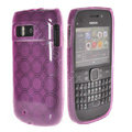 TPU Soft Skin Silicone Cases Covers for Nokia E6 - Purple