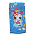 Angel rabbit Scrub Hard Cases Covers for Sony Ericsson Xperia Arc LT15I X12 LT18i - Blue