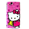 Hello kitty Scrub Hard Cases Covers for Sony Ericsson Xperia Arc LT15I X12 LT18i - Rose