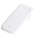 ROCK Colorful Glossy Cases Skin Covers for Samsung I9300 Galaxy SIII S3 - White (High transparent screen protector)