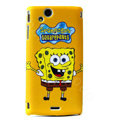 SpongeBob SquarePants Scrub Hard Cases for Sony Ericsson Xperia Arc LT15I X12 LT18i - Yellow
