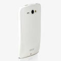 ROCK Colorful Glossy Cases Skin Covers for HTC Chacha G16 A810e - White (High transparent screen protector)