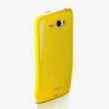 ROCK Colorful Glossy Cases Skin Covers for HTC Chacha G16 A810e - Yellow (High transparent screen protector)