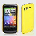 ROCK Colorful Glossy Cases Skin Covers for HTC Desire S G12 S510e - Yellow (High transparent screen protector)