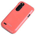 ROCK Colorful Glossy Cases Skin Covers for HTC T328W Desire V - Watermelon (High transparent screen protector)