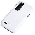 ROCK Colorful Glossy Cases Skin Covers for HTC T328W Desire V - White (High transparent screen protector)