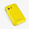 ROCK Colorful Glossy Cases Skin Covers for Samsung S5360 Galaxy Y I509 - Yellow (High transparent screen protector)