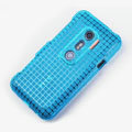 ROCK Magic cube TPU soft Cases Covers for HTC EVO 3D G17 X515M - Blue (High transparent screen protector)