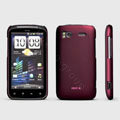 ROCK Naked Shell Hard Cases Covers for HTC Pyramid Sensation 4G G14 Z710e - Red (High transparent screen protector)