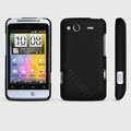 ROCK Naked Shell Hard Cases Covers for HTC Salsa G15 C510e - Black (High transparent screen protector)