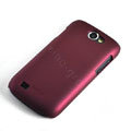 ROCK Naked Shell Hard Cases Covers for Samsung i8150 Galaxy W - Red (High transparent screen protector)