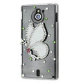 Bling Angel Crystals Hard Cases Covers for Sony Ericsson MT27i Xperia sola - White