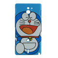 Cartoon Doraemon Matte Hard Cases Covers for Sony Ericsson MT27i Xperia sola - Blue