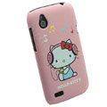Cartoon Hello kitty Matte Hard Cases Skin Covers for HTC T328W Desire V - Pink