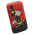 Cartoon Minnie Mouse Matte Hard Cases Skin Covers for HTC T328W Desire V - Red