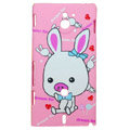 Cartoon Piggy Matte Hard Cases Covers for Sony Ericsson MT27i Xperia sola - Pink