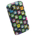 Cartoon Skull Matte Hard Cases Skin Covers for HTC T328W Desire V - Black