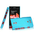 IMAK Ultrathin Matte Color Covers Hard Cases for Sony Ericsson LT22i Xperia P - Blue (High transparent screen protector)