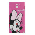 Minnie Mouse Matte Hard Cases Covers for Sony Ericsson MT27i Xperia sola - Rose