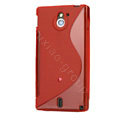 TaiJi TPU Soft Cases Skin Covers for Sony Ericsson MT27i Xperia sola - Red