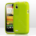 Tourmate Glitter Soft Cases Skin Covers for HTC T328W Desire V - Green (High transparent screen protector)