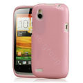 Tourmate Glitter Soft Cases Skin Covers for HTC T328W Desire V - Pink (High transparent screen protector)