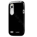 Tourmate Glossy Soft Cases Skin Covers for HTC T328W Desire V - Black (High transparent screen protector)