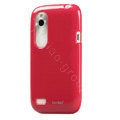 Tourmate Glossy Soft Cases Skin Covers for HTC T328W Desire V - Red (High transparent screen protector)
