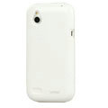 Tourmate Glossy Soft Cases Skin Covers for HTC T328W Desire V - White (High transparent screen protector)
