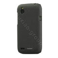 Tourmate Quicksand Hard Cases Skin Covers for HTC T328W Desire V - Black (High transparent screen protector)
