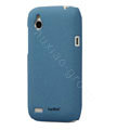 Tourmate Quicksand Hard Cases Skin Covers for HTC T328W Desire V - Blue (High transparent screen protector)