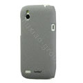 Tourmate Quicksand Hard Cases Skin Covers for HTC T328W Desire V - Gray (High transparent screen protector)