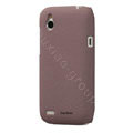 Tourmate Quicksand Hard Cases Skin Covers for HTC T328W Desire V - Purple (High transparent screen protector)