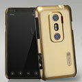 Nillkin Colorful Hard Cases Skin Covers for HTC EVO 3D G17 X515m - Golden (High transparent screen protector)