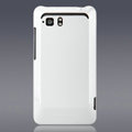 Nillkin Colorful Hard Cases Skin Covers for HTC Raider 4G X710E G19 - White (High transparent screen protector)
