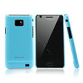 Nillkin Colorful Hard Cases Skin Covers for Samsung i9100 i9108 i9188 Galasy S2 - Blue (High transparent screen protector)