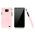 Nillkin Colorful Hard Cases Skin Covers for Samsung i9100 i9108 i9188 Galasy S2 - Pink (High transparent screen protector)