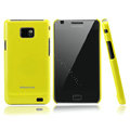 Nillkin Colorful Hard Cases Skin Covers for Samsung i9100 i9108 i9188 Galasy S2 - Yellow (High transparent screen protector)
