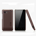 Nillkin Matte Hard Cases Skin Covers for HTC Raider 4G X710E G19 - Brown (High transparent screen protector)