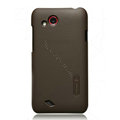 Nillkin Matte Hard Cases Skin Covers for HTC T328d Desire VC- Brown (High transparent screen protector)