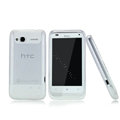 Nillkin Super Matte Rainbow Cases Skin Covers for HTC C110e Radar - White (High transparent screen protector)