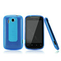 Nillkin Super Matte Rainbow Cases Skin Covers for HTC Explorer Pico A310e - Blue (High transparent screen protector)