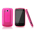 Nillkin Super Matte Rainbow Cases Skin Covers for HTC Explorer Pico A310e - Pink (High transparent screen protector)