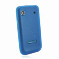 Nillkin Super Matte Rainbow Cases Skin Covers for Samsung i9008 i9003 - Blue (High transparent screen protector)