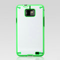 Nillkin Super two-color Cases Skin Covers for Samsung i9100 i9108 i9188 Galasy S2 - Green (High transparent screen protector)